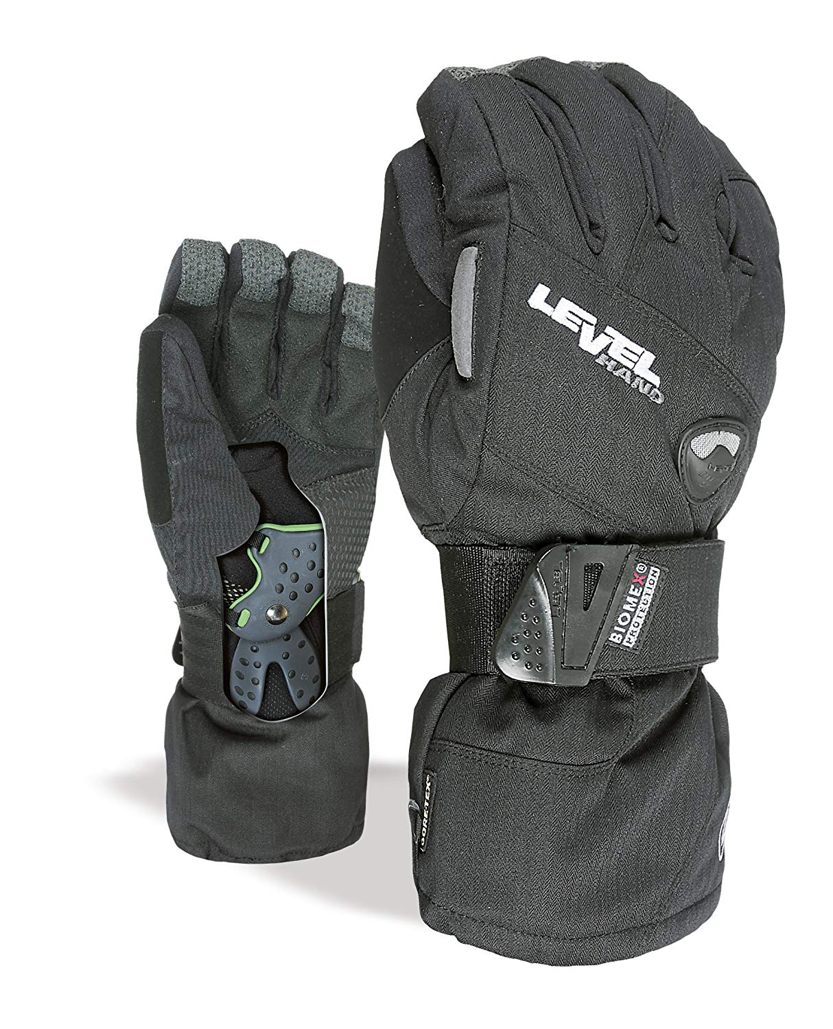 b3306e9d7d2 Get Quotations · Level Half Pipe GTX Snowboard Protective Gloves with  GoreTex Shell