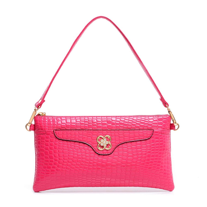 Ladies Alligator Pattern Evening Bag Purse Handbag Wallet
