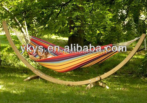 Good Quality Arc Wooden Hammock Stand
