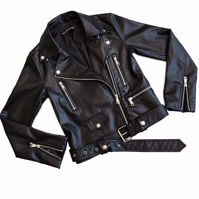 5147de2267cdb Children s Windbreaker Jacket Boy Korean Thin Coat Spring And Autumn. Get  Quotations · OLQMY Short PU leather jacket