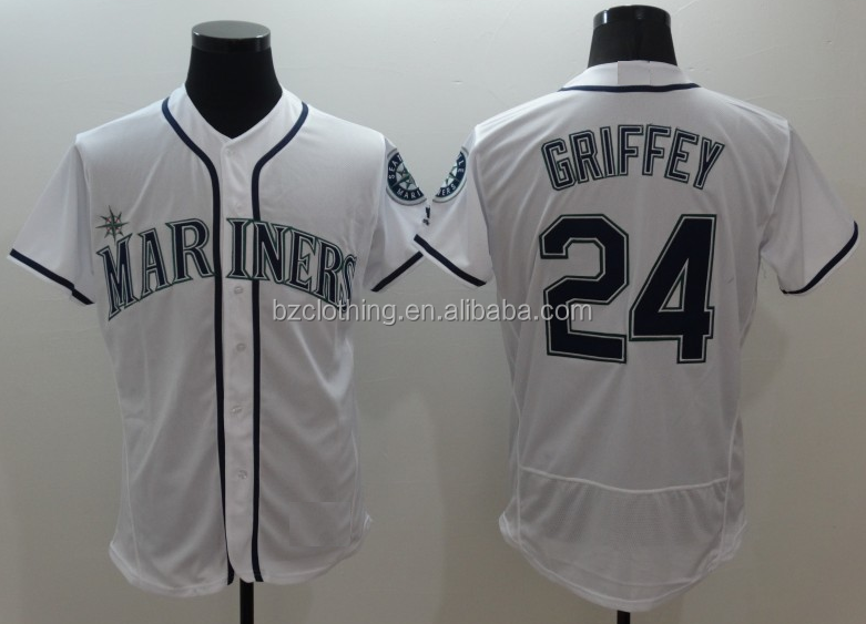 Seattle Mariners Ken Griffey Jr. White Flex Base Player Jersey