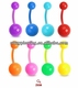 2014 fashion NEON UV Flexible Belly Ring