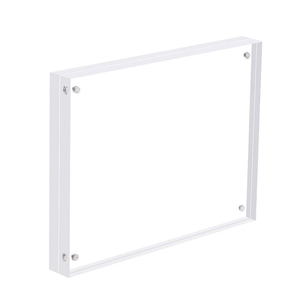 """SUPERIORFE Premium Acrylic Magnet Photo Frame, Super Thick Desktop Frameless Double Sided Clear Magnetic Picture Display, Extra Thick Blocks (8.5""""W X 11""""L)"""