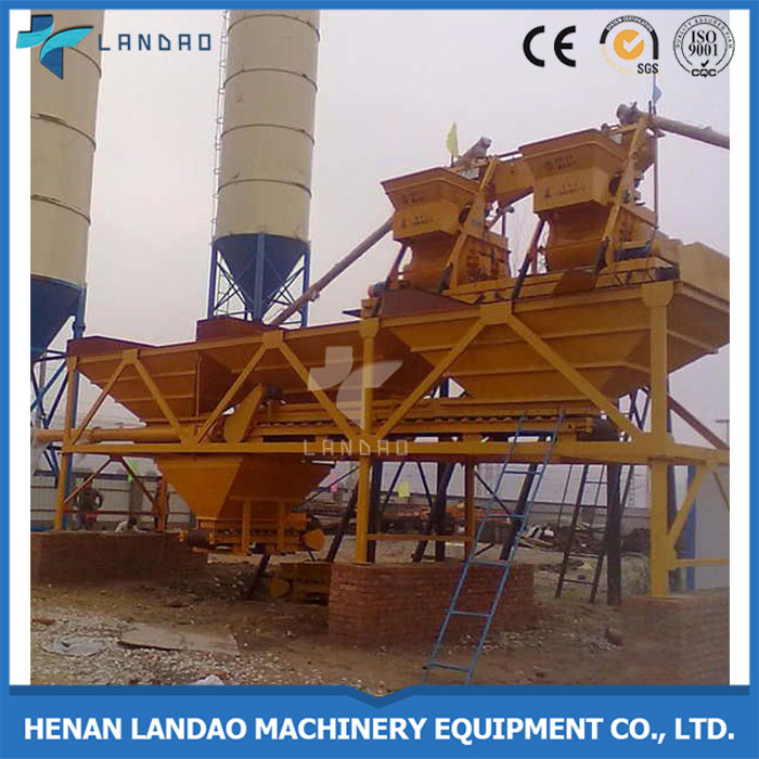 China Construction Stationary Bucket Type HZS35 Small Ready Mix Concrete Batch Plant For Sale