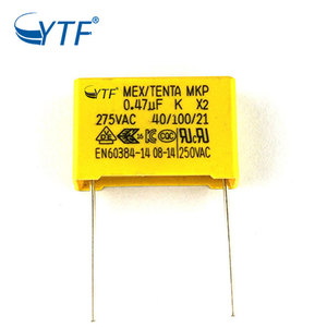 Hot Selling 15mm Lead Pitch Machine Grade 47nf 474k Mkp X2 275v 0.47uf Film Capacitor
