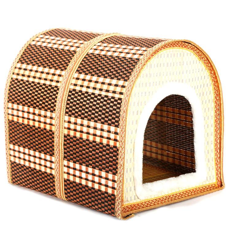 Neue Sommer Falten Bambus Haus Katzen Pet Nest Hundehutte Bambus