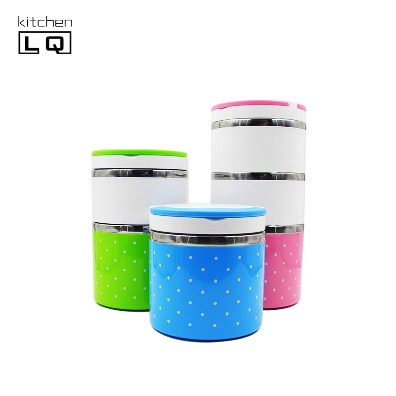 Colore Interno in Acciaio inox Multistrato lunch box thermos Mini/Studente Lunchbox Sigillato/Portatile A Tenuta Termica bento