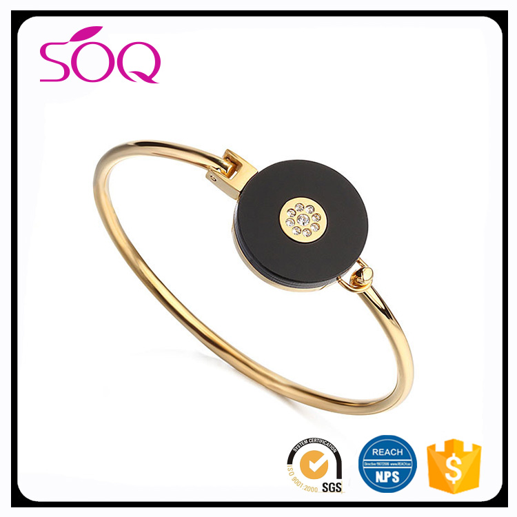 2017 Best Selling Products gold Plated thin Bangle Watch Band Fancy Bangles Design