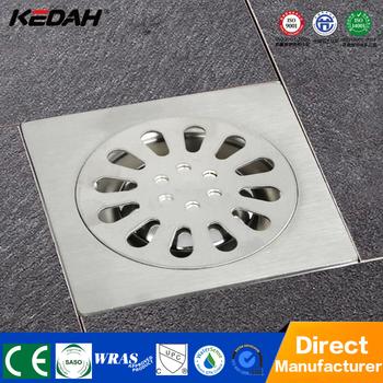 Square Bathroom Concrete 4 Inches Shower Floor Drain Cover