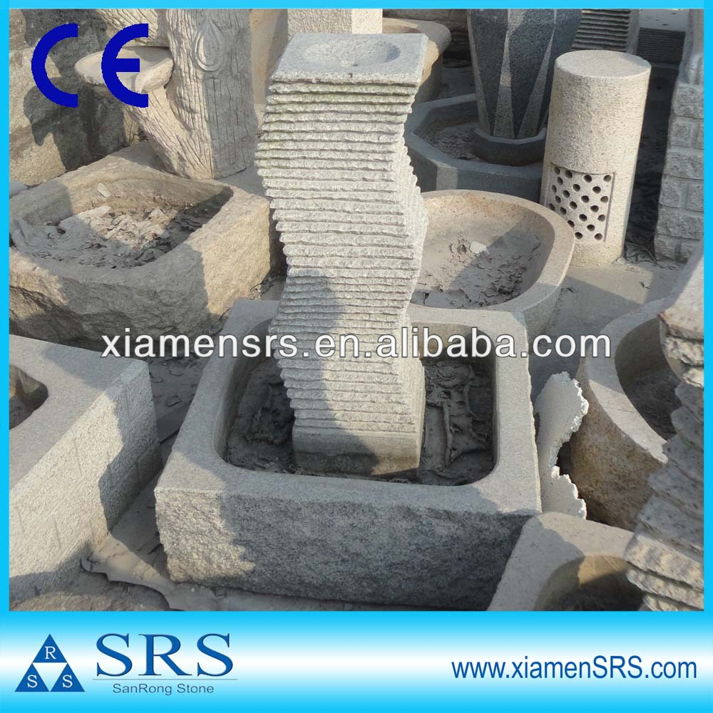 Small natural stone electric water fountain