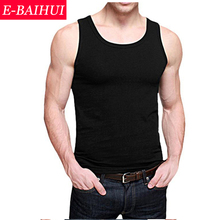 Free shipping 2014 Newly  E-BAIHUI Summer Fashion  6 Pure Color Cotton  Slim Men Tank Tops Vest  Sleeveless Garmen