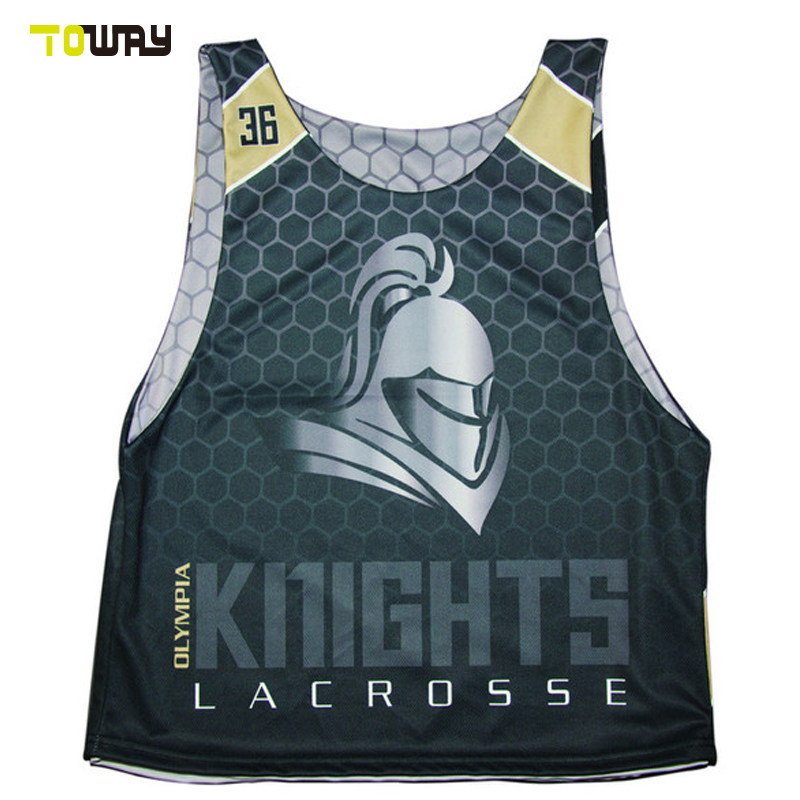 reversible cheap custom lacrosse pinnies