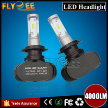 Newest fanless n1 S1 led headlight bulb Competitive price 4000lm all in one design 12v car led light P13W H16 9005 H8 H9 H7