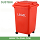 kitchen use waste bin with lids and wheelie 60l plastic garbage bin