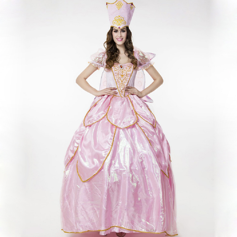 Cheap fairy outfit find fairy outfit deals on line at alibaba get quotations deluxe ladies fairy tales costumes pink flower fairy cosplay outfit long gown themed party halloween fantasias mightylinksfo