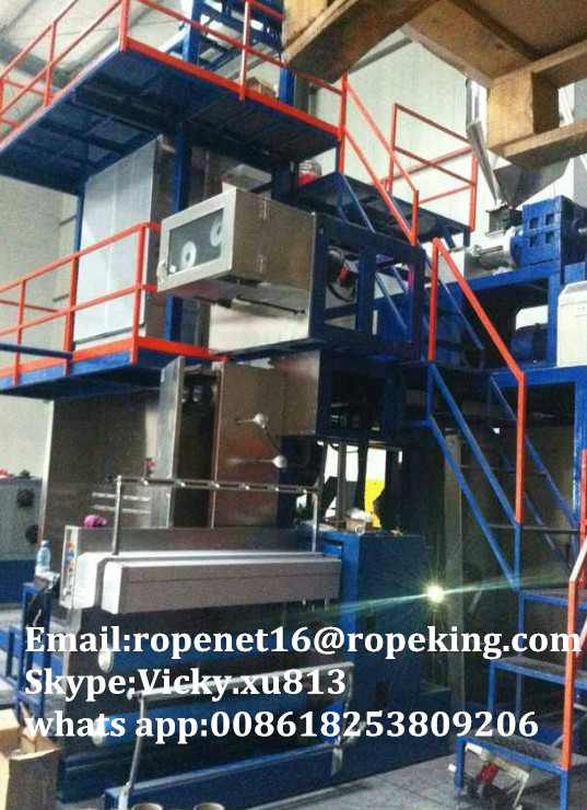 pp multifilament yarn extruding drawing machine /Mobile:008618253809206
