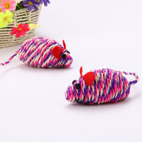 10cm sisal mouse shaped bulk cat toys