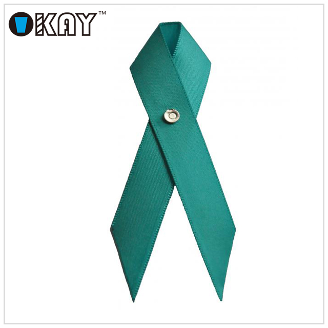 Free Samples Teal Ovarian Cancer Ribbon Awareness Buy Teal Ribbon Pink Ribbon Ovarian Cancer Ribbon Awareness Product On Alibaba Com