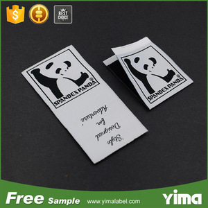 OEM brand LOGO custom washable satin or cotton garment label woven