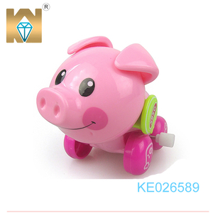 Promotion toy small pig toy wind up animal toy