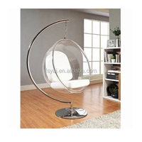 large ball clear hanging acrylic Eero Aarnio hanging bubble chairs for sale