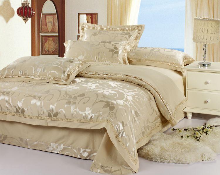 Full/Queen Silk Bedding Comforter/Quilt/Duvet Cover Sets
