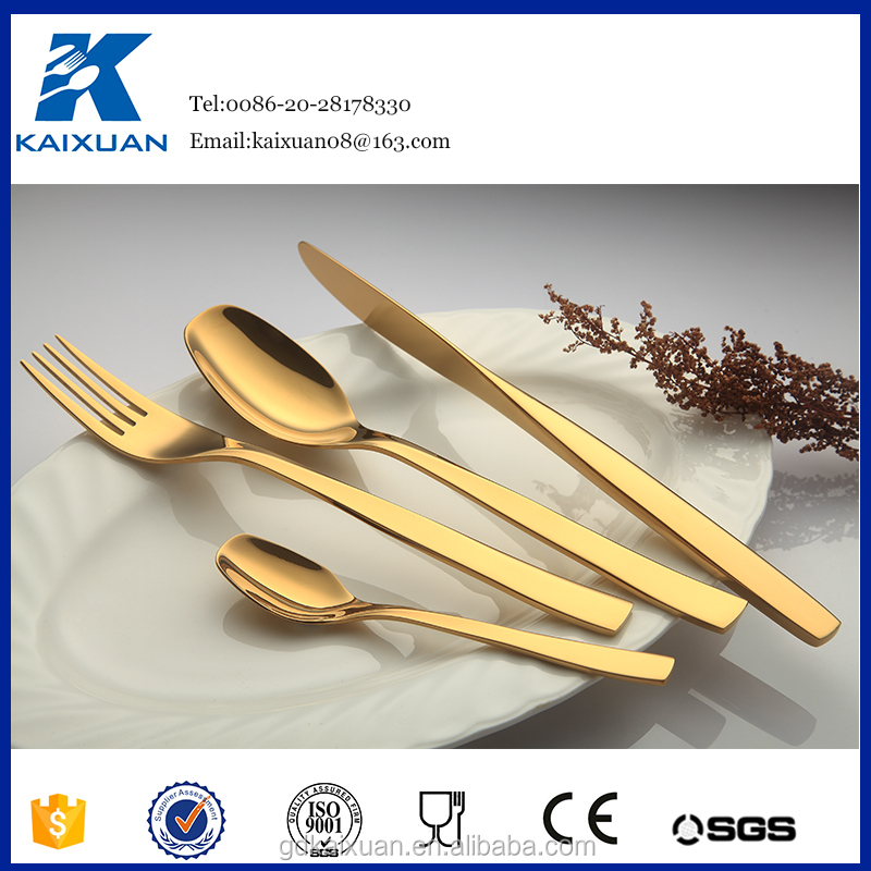 wholesale <strong>Stainless</strong> steel rose gold colored flatware cutlery set