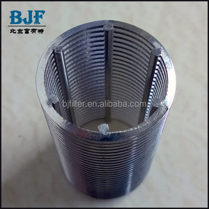 304 stainless steel 316L slot tube 0.025mm slot wedge wire screen pipe
