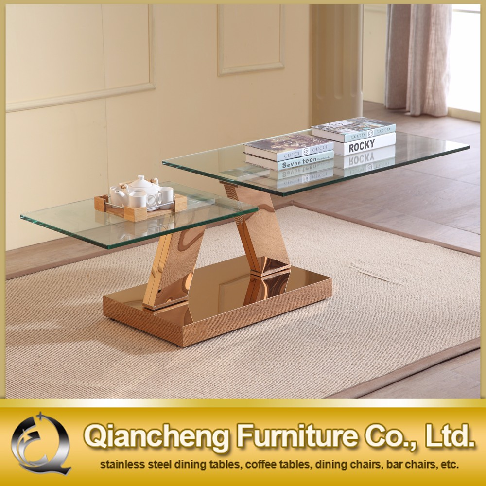Luxury High Gloss table <strong>coffee</strong> modern With Tempered Glass