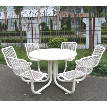 Superb White Powder Coated Outdoor Garden Furniture Dining Table Cafe Table And Chair Buy Outdoor Garden Table And Chair Outdoor Furniture Dining Lamtechconsult Wood Chair Design Ideas Lamtechconsultcom