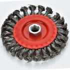type F100 abrasive wire wheel twisted grinding wheel brush