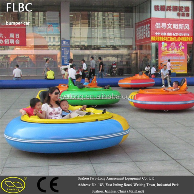 Non Brush Motor Ufo Inflatable Bumper Car With Led Light And Music
