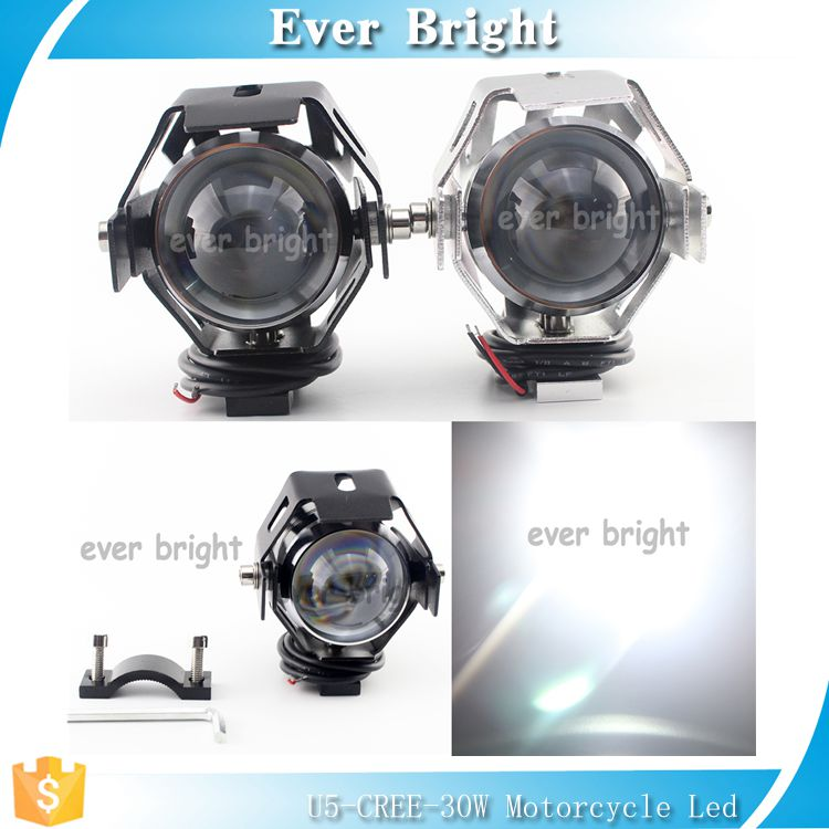 30W 3000LM C-REE U5 LED Front Light Motorcycle Driving Fog Spot light Truck Bicycle electrocar Lamp Headlight