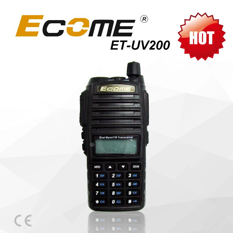 Ecome Walkie Talkie Et-uv200 For Commercial Portable Woki Toki ...