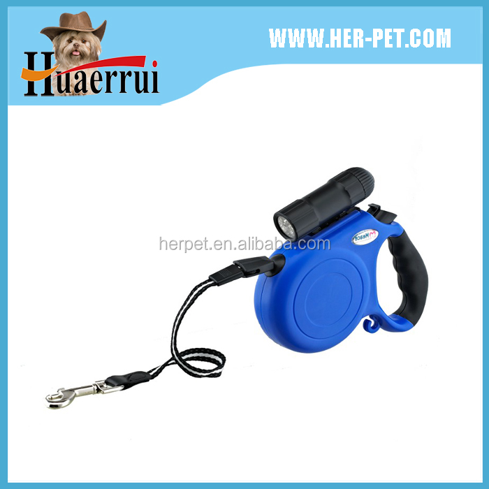 2016 LED retractable dog leash/dog accessories/pet product hands free dog leash