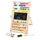 ML-2002 multi-function double side blackboard kids early educational wooden counting toys