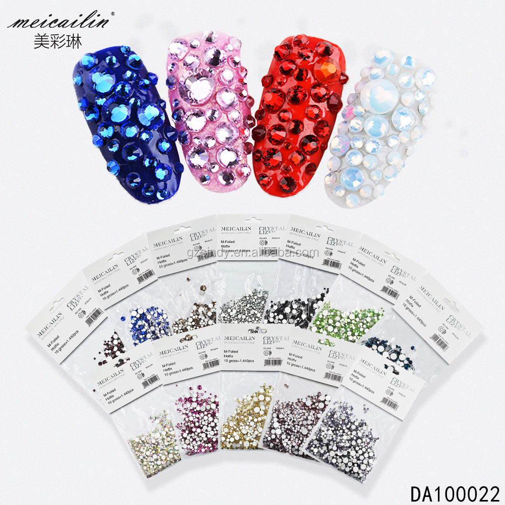 SS10 crystal flat back rhinestone non hot fix stones for Nail art decoration