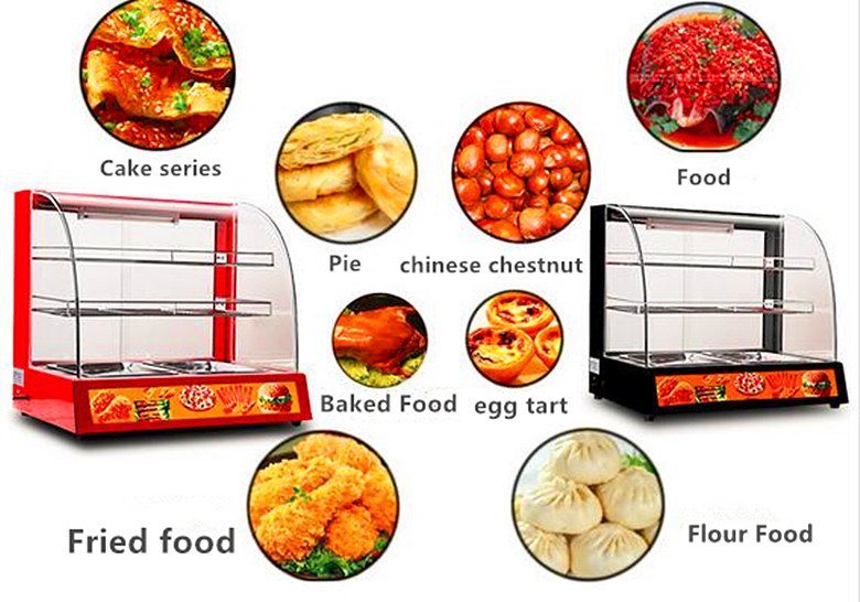 3 Layer Warming Showcase Food Warming Cabinet Pie Warmer Food Warmer