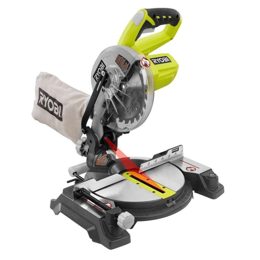 Ryobi 18-Volt ONE+ 7-1/4 in. Cordless Miter Saw - P551 (Tool Only)