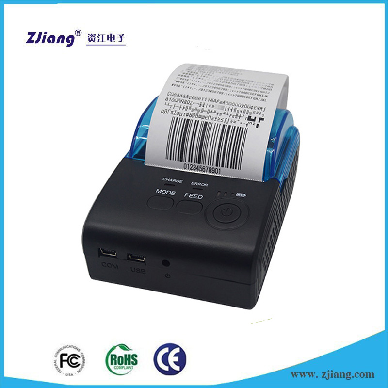 ZJ-5805 Pocket Size Portable Big Paper Warehouse 57*50mm Bluetooth+USB/RS232 Thermal Receipt Printers For Windows/Android/IOS