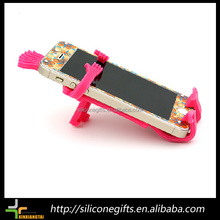 Promotional mobile phone wall holder silicone diy cell phone stand phone wall holder