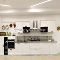 Santorini new style luxury wooden kitchen cabinet designs