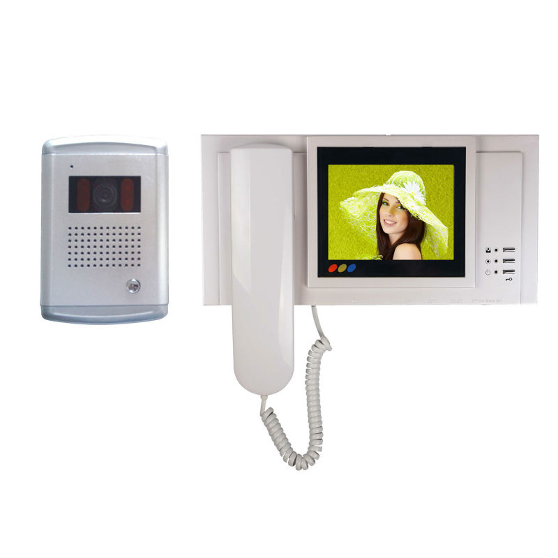 5 tft lcd digital color video door phone, 4-wired door bell kit, video door phone kit