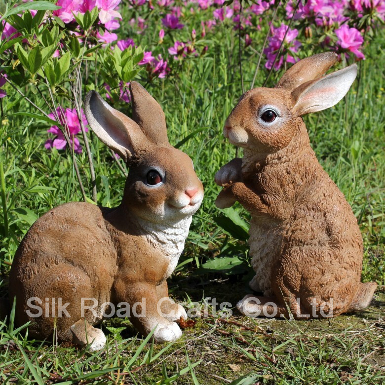 resin rabbit statues for garden decor  buy garden decor,resin, Gardens/