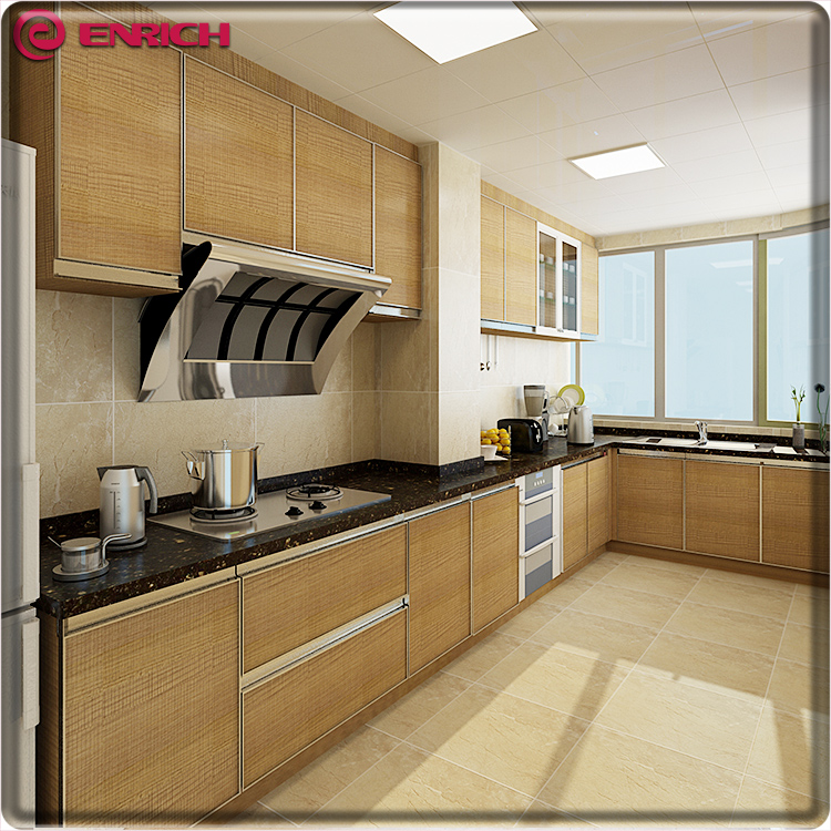Professional manufacturer free used custom high quality melamine/pvc finish kitchen cabinet
