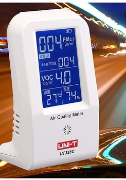 Multi-function IAQ Monitor PM2.5 VOC Temperature and RH 4 in 1 with USB Charging