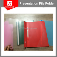 PP hard plastic cover a4 size clip file folder with inner pockets
