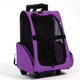 Travel airline pet dog cat rolling backpack pet carrier on wheels