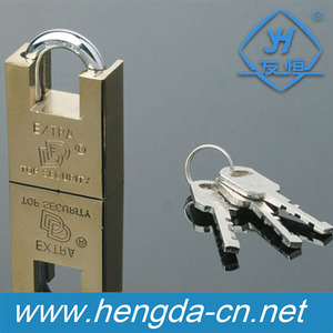 YH1116 Factory Wholesale 40mm 60mm Armored Iron Body Padlock 3 Keys Included