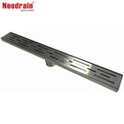 Neodrain ZA3 linear shower floor drain with stainless steel drain cover